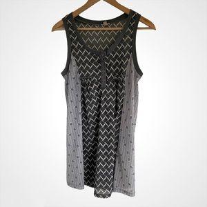 ⭐️ $3/30 UO Ecote Sleeveless Grey Patterned Tunic